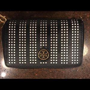 Tory Burch Robinson Perforated Wristlet